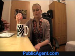 PublicAgent Blonde in glasses gets fucked on my...