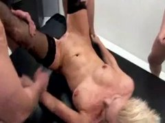 German mature gangbanged in all holes