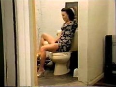 Deepest anal on toilet