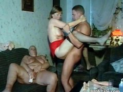 Two chubby sluts getting banged during