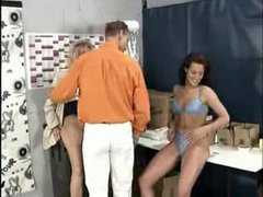 German mature threesome at work
