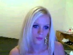 Hot Blonde getting naked on Omegle