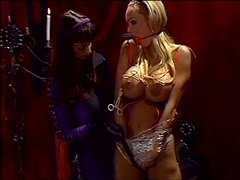 Big breasted lesbian bdsm in dungeon