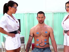 Aletta ocean and her big tit friend in hot anal