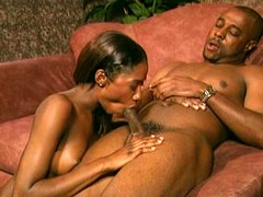 African beauty rides a big balck cock