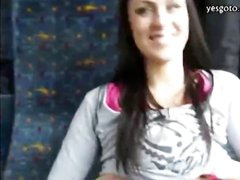 Amateur brunette Czech babe is talked into fucking and sucking for cash