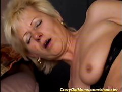 Blonde granny with saggy tits gets a piece of Latino cock in her virgin ass