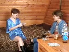 Russian Mom And Boy Playing