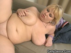 Blonde plumber takes fat cock in her pussy.