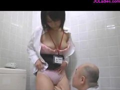 Busty Secretary Licked Fingered Sucking Her Boss...