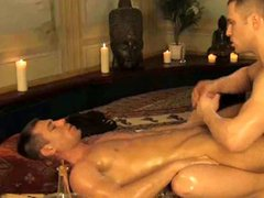Hunk studs give each others man meat a massage