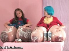 Sexy busty babes get horny rubbing their part2