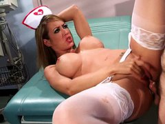 Naughty asian nurse gets fucked by horny patient