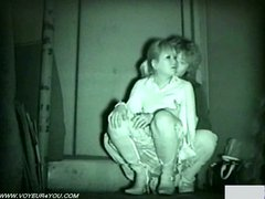 Amayeur couple caught on infrared cam