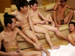 5 horny thai boys set a hot gay jerking party