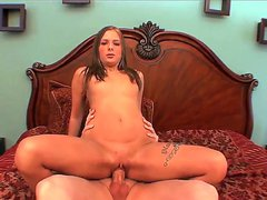 Autumn Skye is a nasty teen who loves to give head and then take it hard in her pussy by old folks. This old man here is really hard and horny and he will fuck her good, no lie.