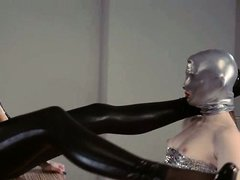 smart strapon lesbians in mask playing