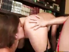 Malena Morgan getting horny at the library