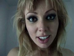 Adrianna Nicole with fair hair and big beautiful eyes gets