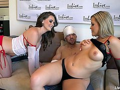 LiveGonzo Alexis Texas & Tori Black Fetish Threesome Nurses