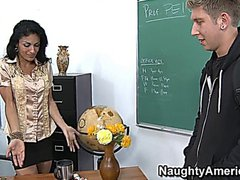Skinny milf teacher fucks with student