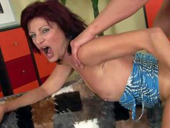 Horny as hell milf Wanda gets her pussy fucked deep