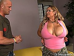 Busty Blonde Bbw Samantha Fucks And Loves It
