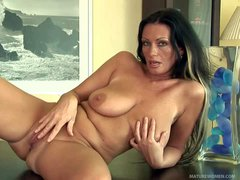 Fascinating milf Pandora with long legs and big natural boobs