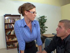 Busty teacher Devon Lee is a milf with amazing big