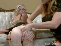 Bespectacled cutie Penny Pax gets her asshole stretched to the