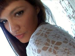 Slava is a skinny teen temptress with A size tits.