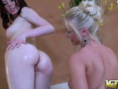 Molly Cavalli and Megen explore every inch of each others