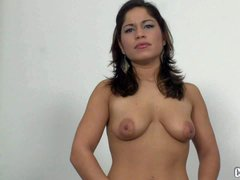 Laura Moreno is a dark haired sexy first timer. Chick