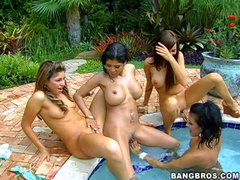 Britney Stevens, Maya Gates and Brittny Blew are three super
