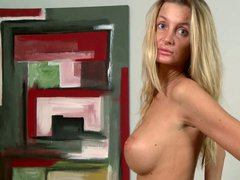 Gia Baweric is another amateur lady in the casting studio.