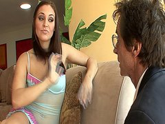 Sexy stepdaughter Gracie Glam getting fucked by her horny stepdad