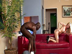 Cheating whore wife fucked by a black cock in hot interracial action