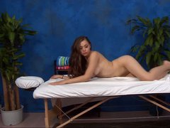 Long haired charming brunette girl Tiffany with juicy tits and