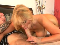 Big busted blonde Karen Fisher is