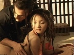 Hot asian babe gets all her wet holes banged