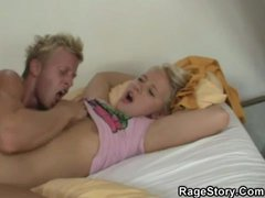 Hot rough sex with a shaved teenager