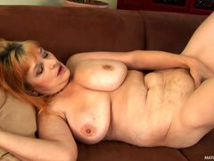 Aged lady Gunda can't wait to get her masturbation session