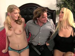Mom Alana Evans and daughter Aliie James share lucky man's