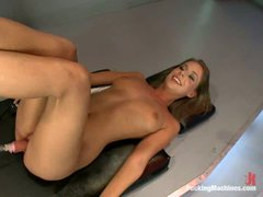 brown haired naked girl Presley Hart gets her juicy shaved