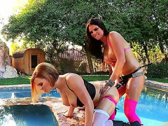 The beautiful lesbians Krissy Lynn and
