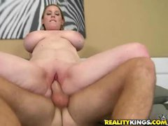 Picked up mom Desiree with massive tits and juicy