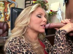 Blonde milf Julia Ann is the owner to dating service