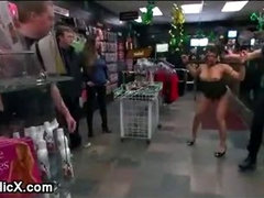 Bdsm Latina babe anal fucked by strangers in public