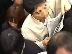 Schoolgirl groped by Stranger in a crowded train
