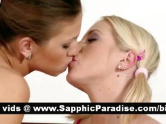 Sexy redhead and blonde lesbos licking asshole and fingering pussy and having lesbo sex